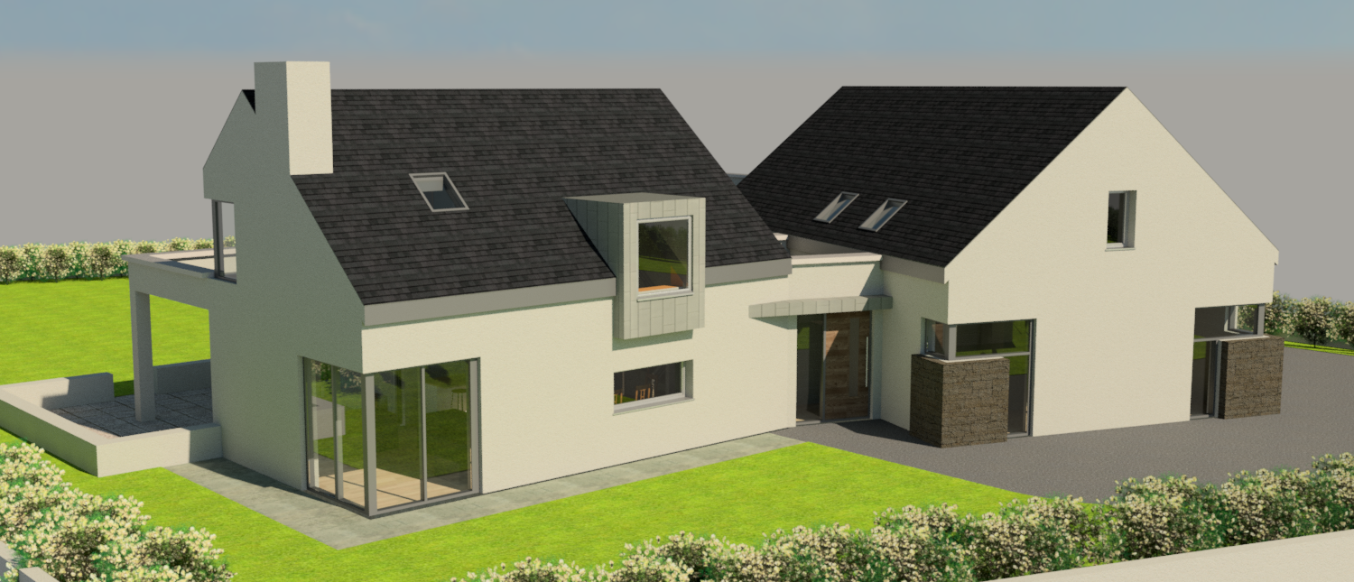 3D Visualisation of new home in Kilconly, Tuam by OHCE.ie